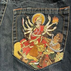 TRUE RELIGION DURGA EMBROIDERED *tailored*